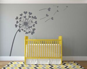 Image Is Loading Heart Dandelion Wall Sticker Love Nature Decal Vinyl