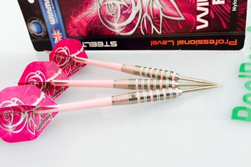 Ladys WINMAU WILD ROSES 90% TUNGSTEN DARTS with Nylon Shafts 24 gram Xmas Gift