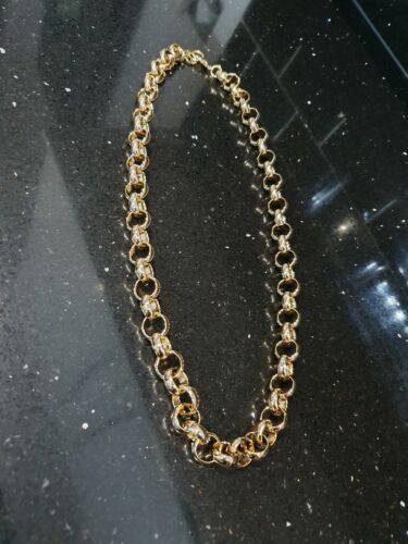 Brand New Mens Gold 18ct Belcher Chain  Necklase 24 inch Gold Bonded Chain 12mm