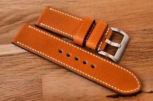 SALE custom handmade 26mm leather watch strap fits Panerai - choice of buckles - Kraków, Polska - SALE custom handmade 26mm leather watch strap fits Panerai - choice of buckles - Kraków, Polska