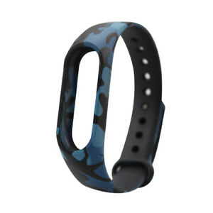 100x Band Miband Smartband Armband Watchband für Xaomi 2 Mi Silikon Camoufl