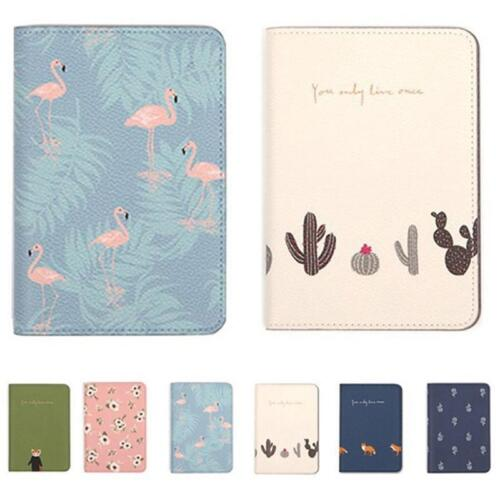 Travel PU Leather Passport Organizer Holder Card Wallet Protector Cover Case QK