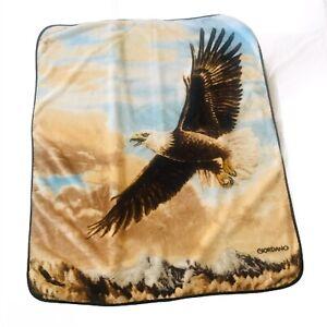 Northwest-Giordano-Blanket-Plush-Aztec-Eagle-Afghan-Throw-50-034-X-60-034-American