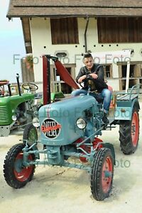 Andreas-Gabalier-On-Eicher-Tractor-Photo-7-7-8x11-13-16in-No-Autograph-Be-80