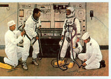 NORMAN ROCKWELL- ASTRONAUTS/ THE LONGEST STEP ON POSTCARD  (NR-192*)