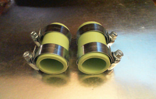 Factory Yamaha Banshee rubber exhaust pipe clamps all years fmf,dg Green
