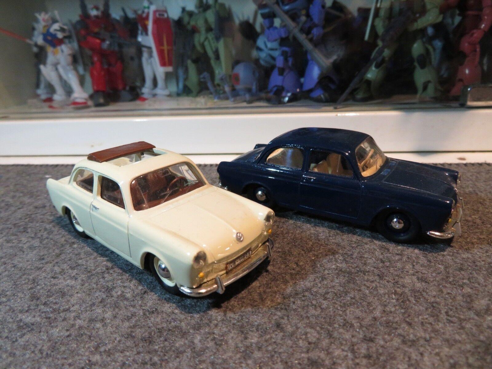 1 43 VITESSE VW VOLKSWAGEN 1500 ouvrir  toit crème + HARD TOP bleu moulé sous pression (2pcs)  100% de contre-garantie authentique