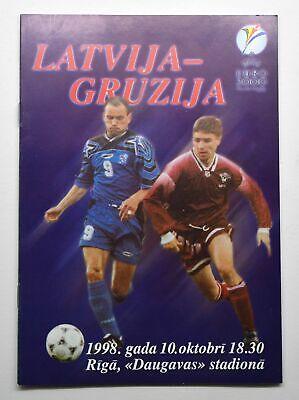 UEFA Euro 2000 Qualifiers Latvia vs Georgia Football Programme | eBay