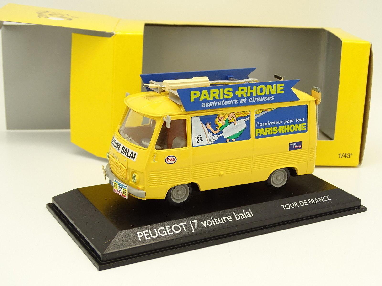 Norev 1 43 - Peugeot j7 Car Broom Tour de France 1969