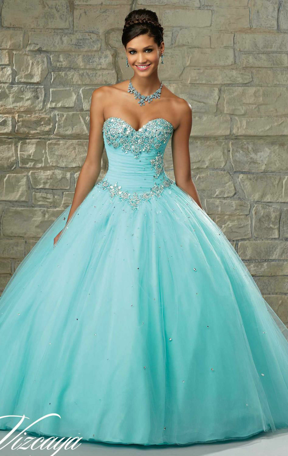 New Beaded Quinceanera Dress Ball Gowns Formal Prom Party Wedding ...