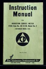Victoreen Instrument Co Radiological Survey Meter Manual V 720 Model 2