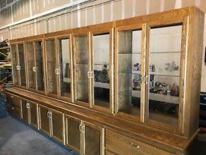 Image Is Loading Large Custom Built Oak Display Cabinet