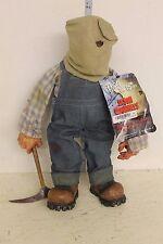 Mezco Jason Voorhees in overalls Plush Figure LOOSE