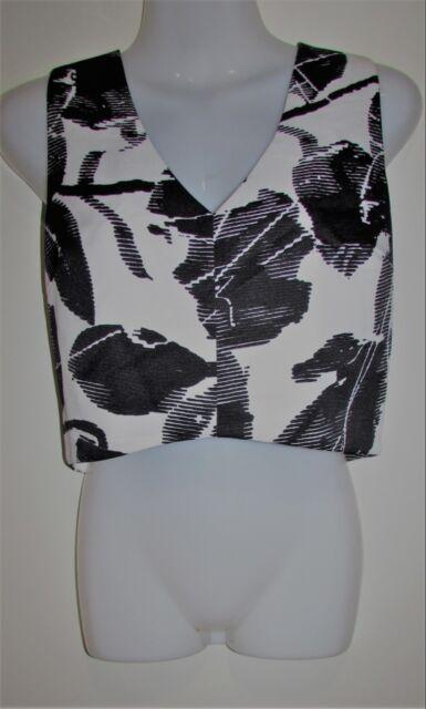 5d3fec4cc865f New LUCY PARIS Bloomingdales Black   White Pattern Top Blouse Size Medium M  BNWT