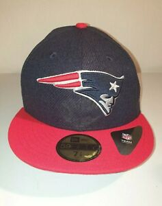 size 40 1a0bf 5957d Image is loading New-Era-59FIFTY-NFL-New-England-Patriots-Flat-
