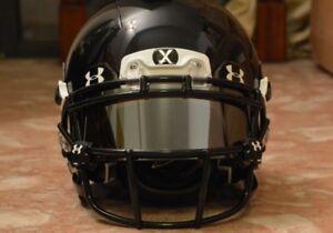 CHEAP-Under-Armour-Football-Helmet-Visor-Eye-Shield-SILVER-GREY-CHROME-MIRROR-UA