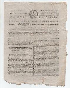 1795-RARE-JOURNAL-REVOLUTION-LE-JOURNAL-DU-MATIN-DES-AMIS-DE-LA-LIBERTE-ET