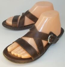 6976bb2ef4ac B.O.C Born Concept Womens Sandals Slides US 8 M Brown Vegan Buckle Slip-on