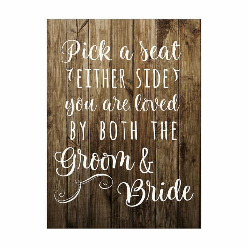 Party Decor 1 Piece Rustic Wedding Seating Ceremony Sign
