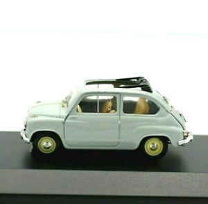 Modello-Auto-Fiat-600-CABRIO-SCALA-1-43-Diecast-modellcar-statico-Brumm-Eta