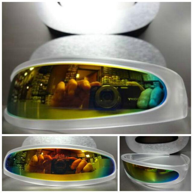 FUTURISTIC CYCLOPS RAVE PARTY COSTUME SPACE ROBOT SUN GLASSES Transparent Frame