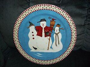 Image is loading Debbie-Mumm-Snowman-Christmas-Sakura-12-034-Round- & Debbie Mumm Snowman Christmas Sakura 12\