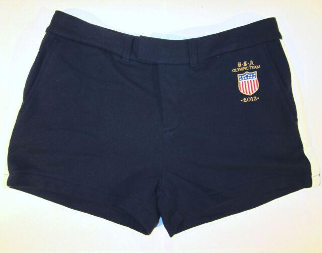 Ralph Lauren USA Olympic Shorts sz L or XL navy blue NEW $125