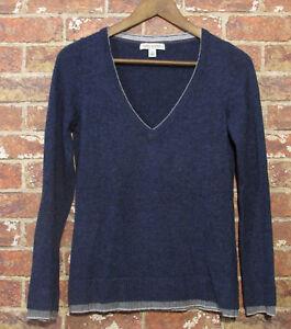 Banana-Republic-XS-Italian-Yarn-Navy-Sweater-Knit-Jumper-Cashmere-Wool-Blend