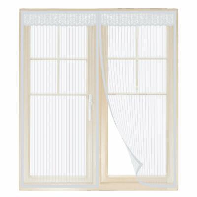 Fliegengitter Fenster Insektenschutz Magnet Vorhang Für Schiebefenster Weiß