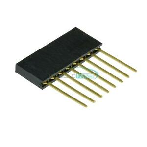 10pcs-Single-Row-Stackable-Shield-Female-Header-2-54mm-Pitch-8-Pin-for-Arduino