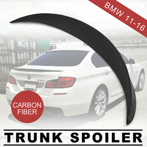 Carbon-Fiber-High-Kick-Trunk-Spoiler-For-BMW-F10-Coupe-520i-528i-M5Wing-Lip-CF