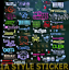 10-Aufkleber-Set-Auto-Aufkleber-Tuning-Sticker-jdm-oem-Dapper-static-mivw-oem Indexbild 1