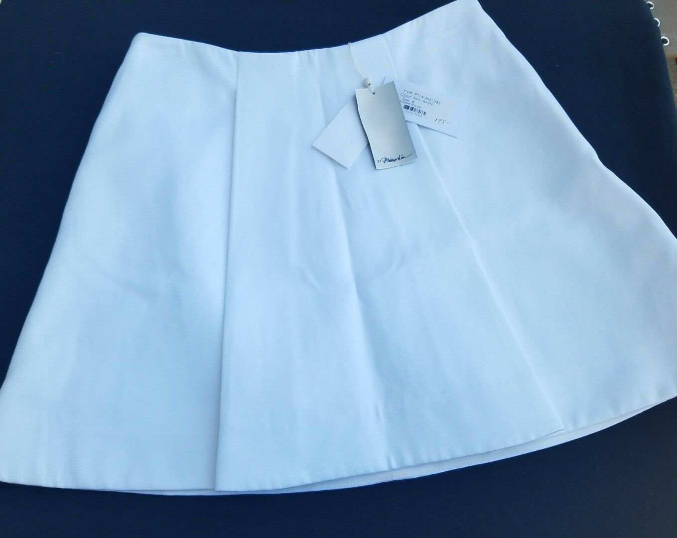 NWT 3.1 Phillip Lim - Pleated cotton mini skirt - Off-white SZ 6  Free Shipping