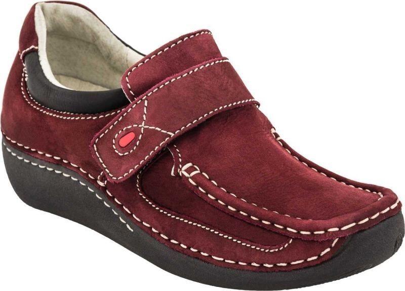 Wolky Belinda Oxblood Red Burgundy Nubuck Leather Loafer Shoe EU 37 US 6 - 6 1/2