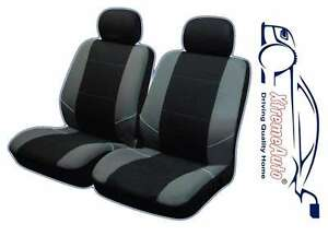Image Is Loading Keswick Black Grey Front Car Seat Covers For