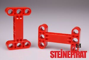 LEGO-2x-14720-NEU-Technic-Liftarm-Verbinder-H-Form-rot-6185105