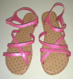 8ad97a657f2 Adorable Pink Dressy JOE BOXER Size 4 M Sandals Ankle Strap Loop ...