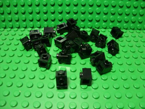 "** 25 CT LOT ** Lego NEW black 1 x 1 brick modified /""headlight/"" pieces Lot of 25"