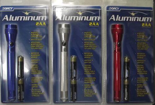 One Flashlight Only Dorcy 41-4016 2 AA Cell Aluminum Flashlight