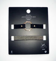Zara Pack Of Choker Necklaces Golden Tone 2 Pcs Hot Gift