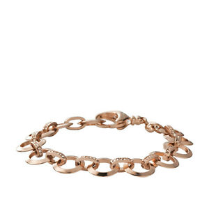38e802ba5 Image is loading FOSSIL-ROSE-GOLD-TONE-ROUND-PAVE-CRYSTAL-CHARM-
