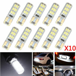 10x Xenon White T10 W5W 12SMD 2835 LED Canbus Backup Lights Bulb 6000K
