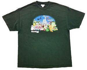 Vintage Mickeys Christmas Party 2007 Tee  Hunter Green Size XXL Mens T-Shirt