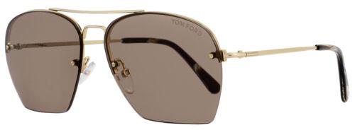Tom Ford Aviator Sunglasses TF505 Whelan 28E Gold//Brown Horn FT0505