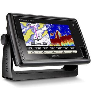 garmin gpsmap 721xs gps chartplotter chirp sonar fishfinder 010, Fish Finder
