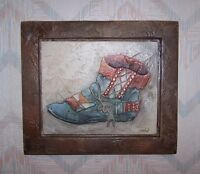 Moccasin Wall Hanging Connie Baker Dance Moccasin