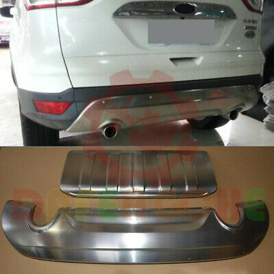 For Ford Escape/Kuga 2013~2016 Front+Rear Stainless Bumper ...
