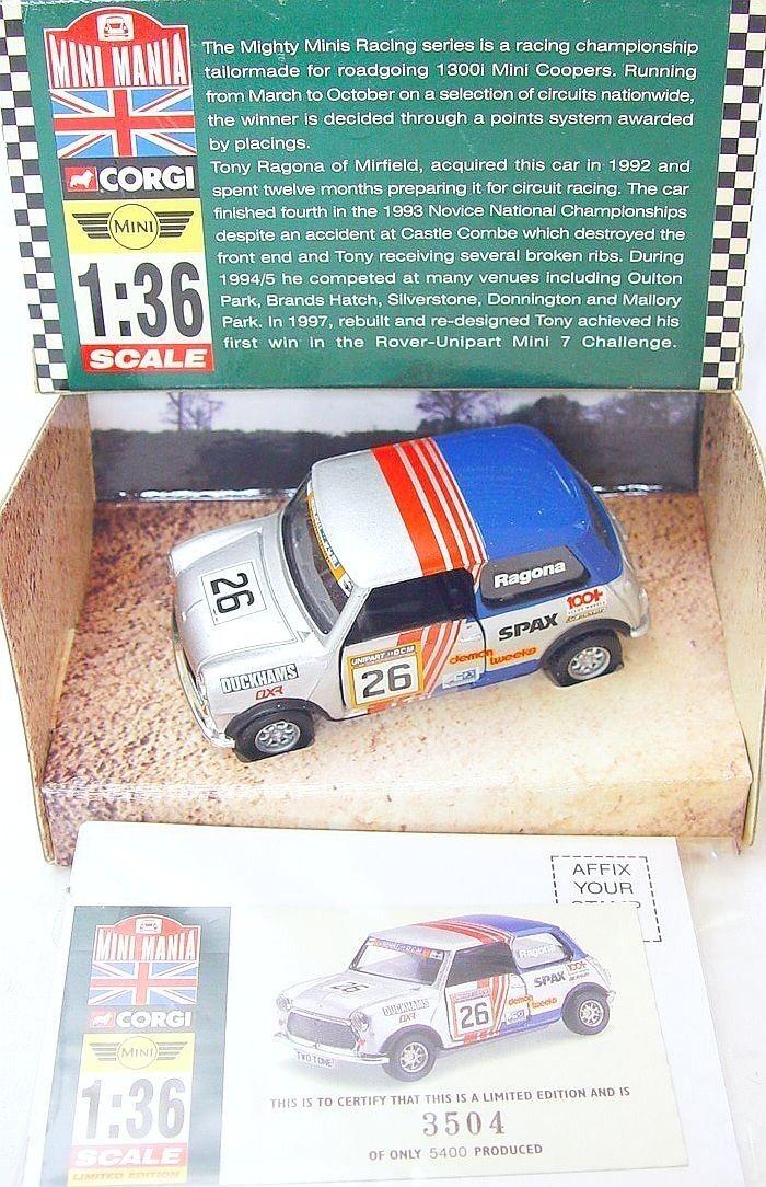 Corgi Toys 1 36 MORRIS MINI COOPER  RAGONA  MINI MANIA Model Car 04439 MIB`00