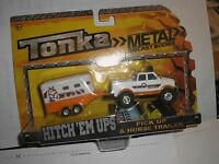 2015 Tonka Metal Diecast Bodies Hitch 'em Ups Pick-up & Horse Trailer