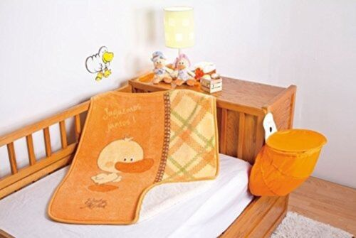 Baby Mink Baby Pato Duck Sherpa Crib Blanket Throw with /'Juguemos Juntos/' Imp...
